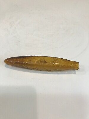 Amber Glass Whiskey Cigar Flask Early 1900's