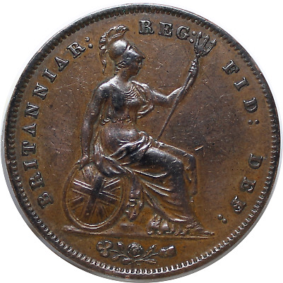 PENNY 1858 Young Head United Kingdom Victoria 1837-1901,Copper  KM#739