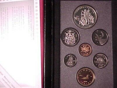 Canada Double Dollar Proof Set 1990 With Kelsey Silver $1 In Case (Sticker Tag)