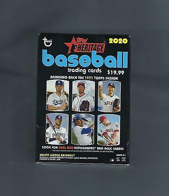 2020 Topps Heritage Baseball Blaster Box New Factory Sealed Real One Auto's ? ?