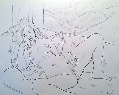 "Nude Woman Pencil Drawing, 11""x14"" Original Signed"