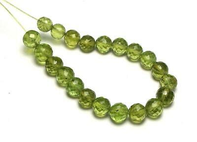 21 pcs PERIDOT 5-6mm Faceted Round Beads NATURAL