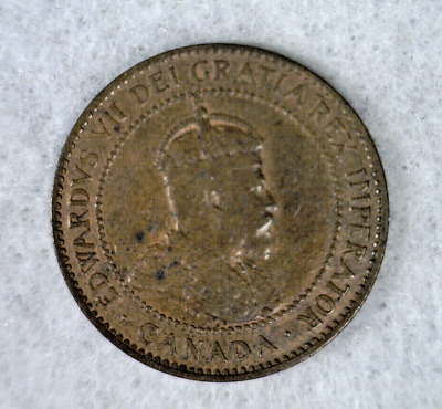 CANADA LARGE CENT 1907 H VERY FINE COIN ( stock# 632)