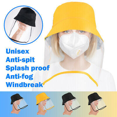 Outdoor Fisherman Hat Removable Protective Cover Anti-UV Fog Caps for Adult Kids