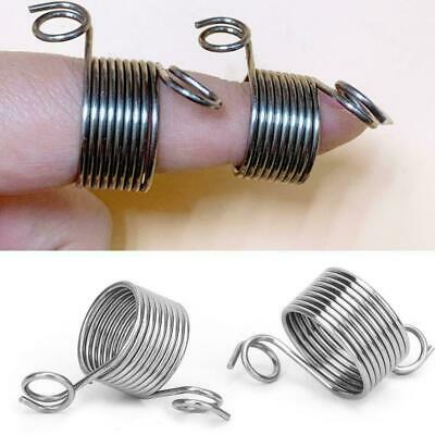 Silver Ring Knitting Tools Finger Wear Thimble Yarn Spring Guides Needle QK