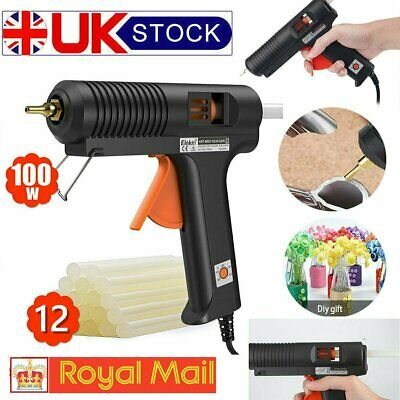 100W Industrial Glue Gun 12 Strong Sticky Adhesive Sticks 11mm for DIY