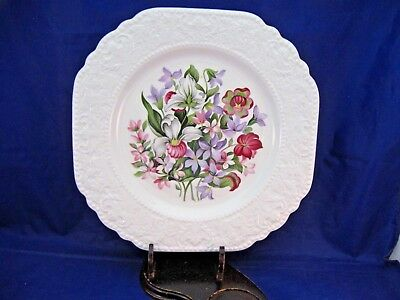 Antique Decorative Plate - Floral Emblems Of Atlantic Canada - Made In England