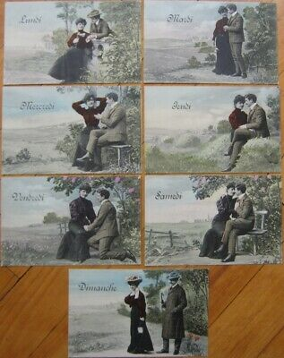 The Lovers/' Week French Photo Postcard c 1910