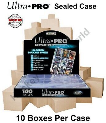 100 x ULTRA PRO PLATINUM 20 POCKET POG COINS TAZOS CAPS PAGES SLEEVES IN BOX