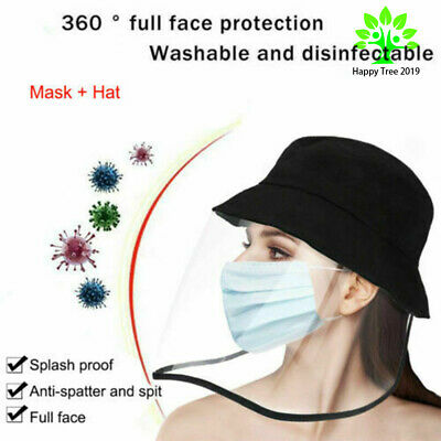 Anti-saliva Fisherman Hat Cap Outdoor Protective Face Shield Transparent Cover