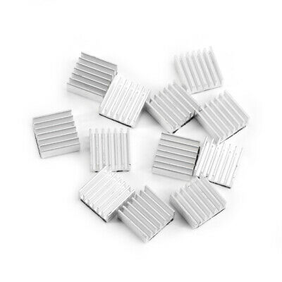 DIYElectronic 10pcs 20206mm Heatsink Cooling Fin Cooler Aluminum Radiator Heat Sink for Chip LED Power IC Transistor Module PBC 20X20X6mm