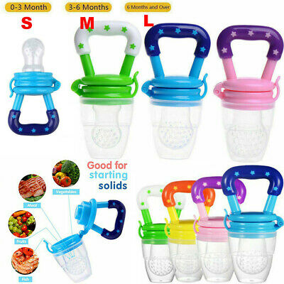 Baby Safe Feeding Pacifier Fresh Food Fruits Feeder Dummy Soother Weaning!Nipple