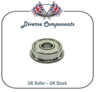F624ZZ 4mm x 13mm x 5mm Flanged Shielded Deep Groove Ball Bearing