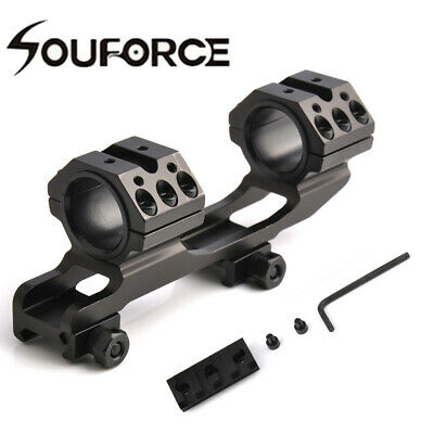 """Metal Cantilever 1/""""//30MM Dual Ring 21mm Rail Scope Mount For Rifle Hunting"""