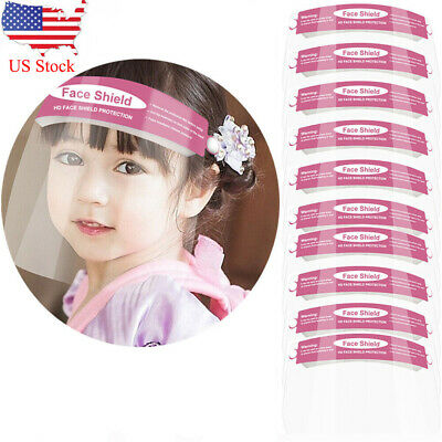 10PCS Kids Full Face Covering Anti-Fog Safety Shield Tool Clear Protective Eye