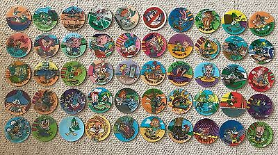 Complete Collection 50 Looney Tazos/Pogs - Serie Magictazos - Spanish Version