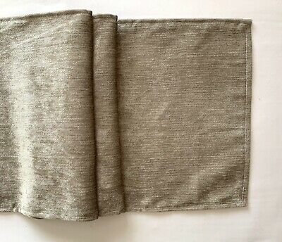 """silver grey design fabric table runner 12"""" x 65"""""""