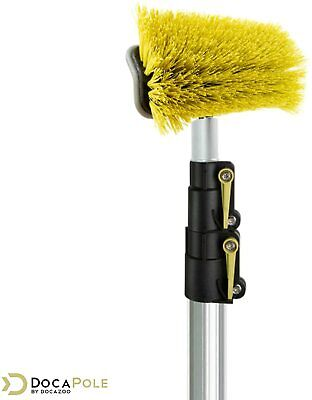 DocaPole 5-12 Ft (1.5-3.5m) Extension Pole + Hard Bristle Deck Brush