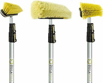 DocaPole 5-12 Ft (1.5-3.5m) Extension Pole + Brush Kit // Includes 3 Brushes