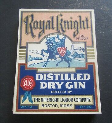 Lot of 40 Old 1930/'s-40/'s American Liquor Co Boston Mass WHISKEY /& GIN LABELS