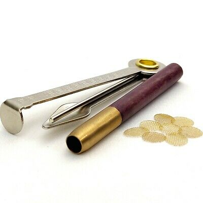 "3"" Brass & Purpleheart One Hitter Smoking Pipe Set 