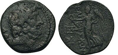 Ancient Greece 150-50 BC CILICIA ELAIOUSA-SEBASTE NIKE ZEUS WREATH Æ #4