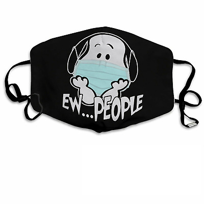 People Snoopy Unisex  Cotton Face-Mask 3D One Size