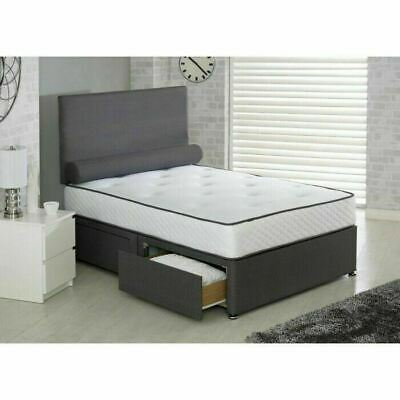 ORTHOPAEDIC DIVAN BED SET WITH MATTRESS AND HEADBOARD 3FT 4FT6 Double 5FT King