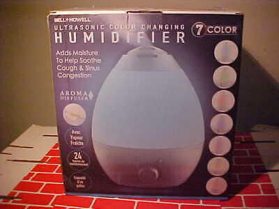 BELL + HOWELL 1 Gal.Ultrasonic 7 Color Changing Humidifier w