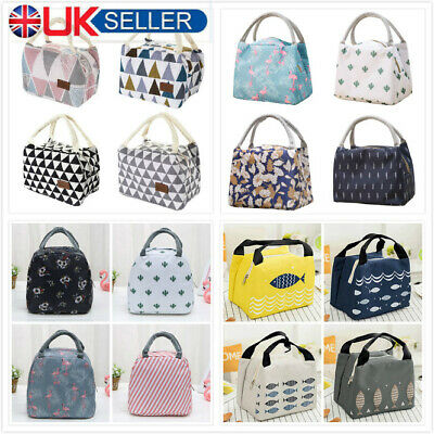 Portable Lunch Bag Insulated Thermal Cooler Box Carry Tote Travel Bag UK