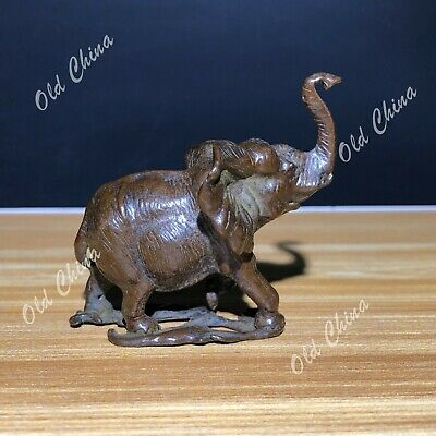 Chinese Old Pure Solid Copper Monkey Handwork Vintage Incense Holder Statue C5