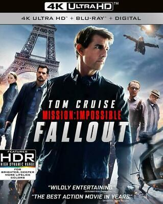 Mission Impossible Fallout 4K UHD, Blu-Ray, & Digital HD Brand NEW