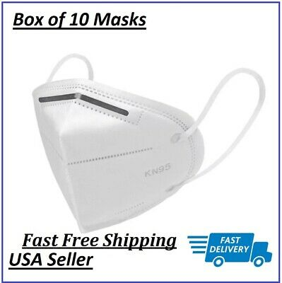 KN95 Face Mask Box of 10 Disposable Breathable Nose and Mouth Cover