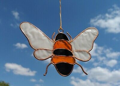 Bee Suncatcher Stained Glass Effect Sun Catcher Garden / Window Decoration