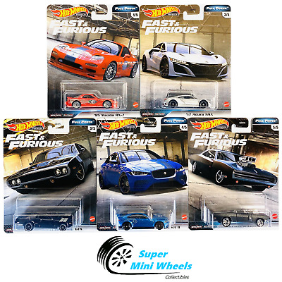 5 Car Set Full Force IN STOCK 2020 Hot Wheels Fast Furious Case H