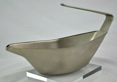 Vintage Stylish 1970s Chichester Brushed Stainless Steel Gravy Boat