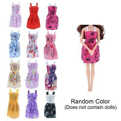 10 Pcs Dresses For Doll Fashion Party Girl Dresses Gown Toy Clothes Gift G1T1