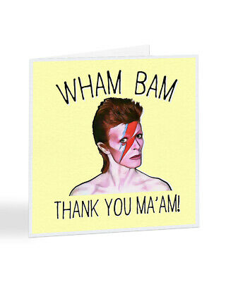 David Bowie Wham Bam Thank you maam Lyric quote poster print A4 gift