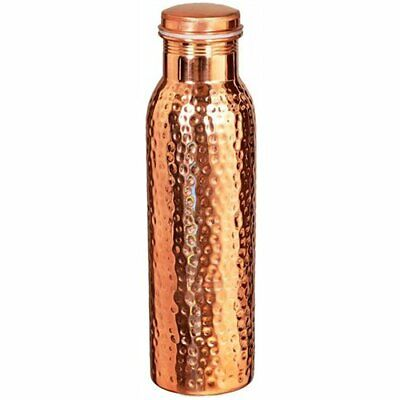 100% Pure Copper Water Bottle For Yoga Ayurveda Health Benefits 950 Ml Hammered