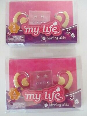 "NIP My Life All American Girl Doll Hearing Aids Earring Stickers for 18/"" Doll"
