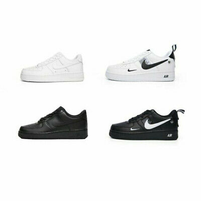 MENS WOMENS AIR FORCE 1 Low Top Trainer White/Black Brand New Size UK 3-10