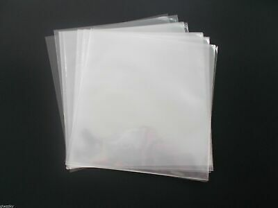 100- 12 inch OUTER SLEEVES- 3 MIL CLEAR POLY SLEEVE  for Standard 12' LP Records