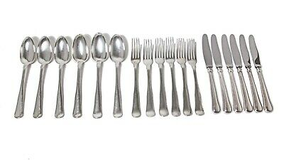 """Silver cutlery set for 6 people, 18 items. """"Old Danish"""" Denmark, 1960, Cohr."""