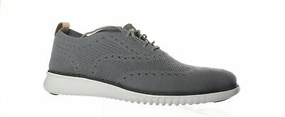 Cole Haan Mens 2.Zerogrand Ironstone/Magnet/Optic White Wing Tips Size 9