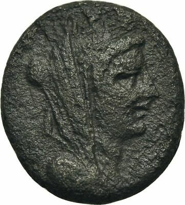 Ancient Greece  2 Cent  BC AE TYCHE ZEUS