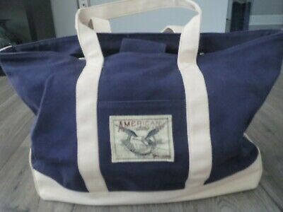 American Living Canvas Navy Blue Double Handle Everyday tote bag