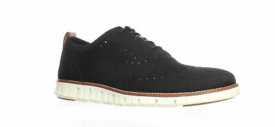 Cole Haan Mens Zerogrand Stitchlite Black/Ivory Wing Tips Size 11.5
