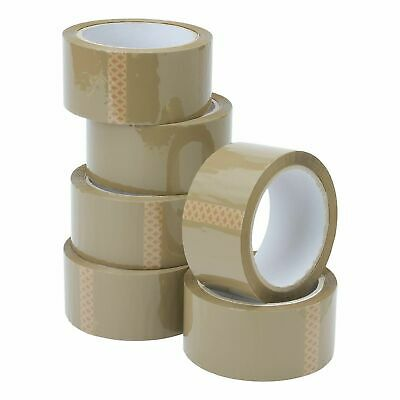 Brown Strong Parcel Tape Packing  Packaging Moving Postage Tape Rolls 48mm x 66m