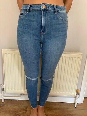 Ladies Ex Chain Store High Waist Black Super Stretch and Skinny Jeans
