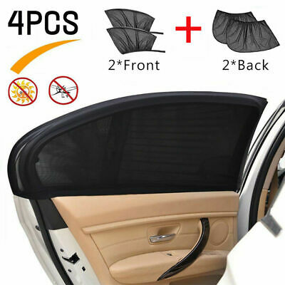 4pcs Car Window Sun Shades Blinds Shield Blocker Auto Cover Protector Black